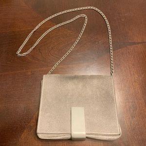 COS suede chain strap crossbody shoulder bag